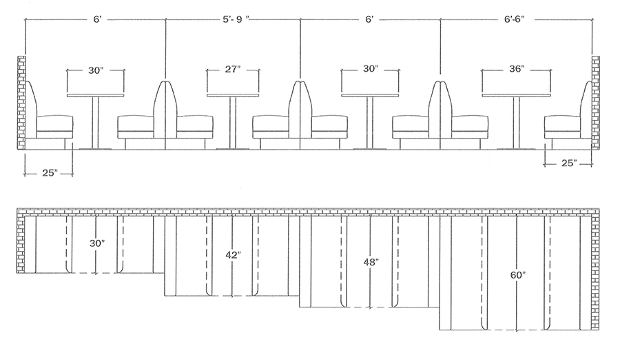 Booth Spacing Lengths
