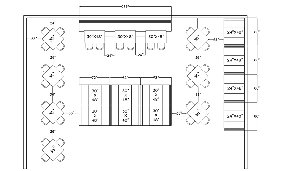 Ada Dining Room Diagram Electrical Work Wiring Diagram - Ada restaurant table